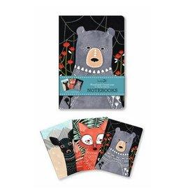 Studio Oh! Woodland Creatures Notebook Trio