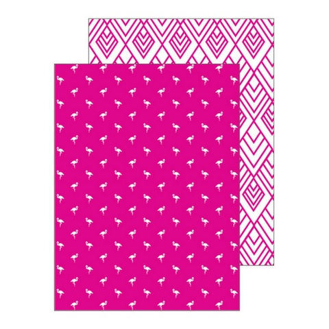 Ann Page Hot Pink Flamingo Pocket Folders