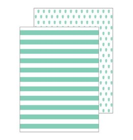 Ann Page Mint Pineapple Pocket Folders