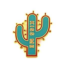Valley Cruise Press Kiss Me Cactus Pin