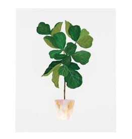 Our Heiday Fiddle Leaf Fig Tree Print, 8 x 10