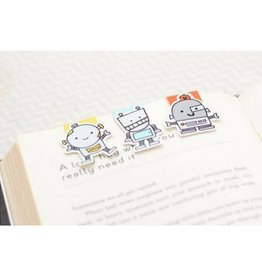 Crafted Van Robots Mini Magnetic Bookmarks, 3pk