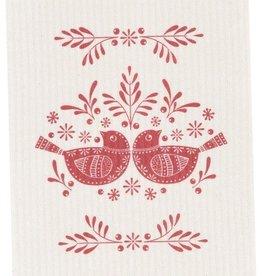 Now Designs Folk Feathers Swedish Dishcloth