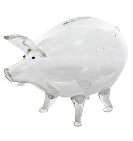 HomArt Glass Piggy Bank