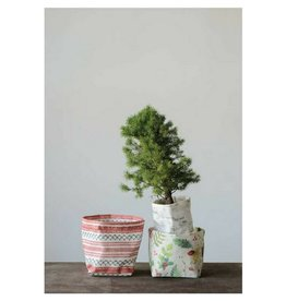 Creative Co-op Christmas Canvas Containers, Set/3