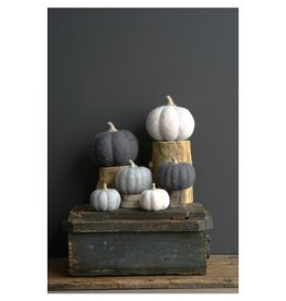 Creative Co-op Felted Wool Pumpkin, Md, 2 Colors