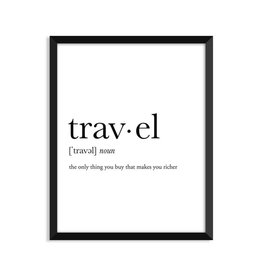 Footnotes Studio Art Print - Travel