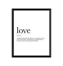 Footnotes Studio Art Print - Love