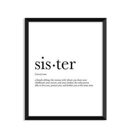 Footnotes Studio Art Print - Sister