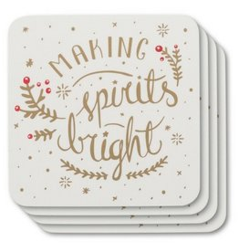 Now Designs Spirits Bright Coasters, Set/4
