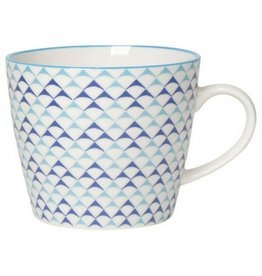 Now Designs Blue Triangles Mug