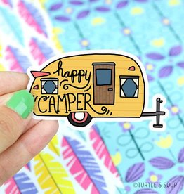 Turtle's soup Happy Camper Vinyl Sticker