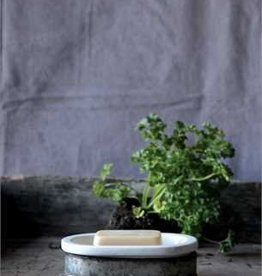 Creative Co-op Metal & Stoneware Soap Dish