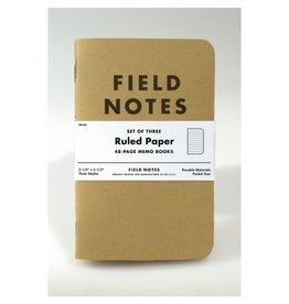 Field Notes Original Kraft Ruled, Pack/3