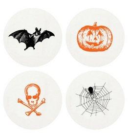 Haute Papier Halloween Coasters, Set/8