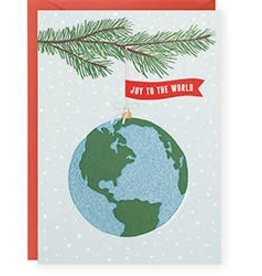 Waste Not Paper Joy World Globe Glitter, Boxed