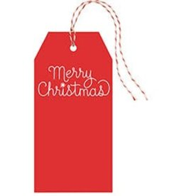 Waste Not Paper Merry Christmas Hang Tag, Set/10