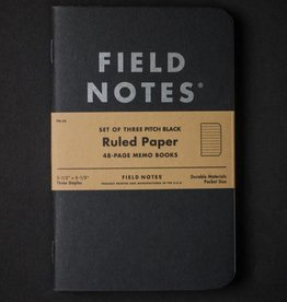 Field Notes Pitch Black Ruled, 3-pack