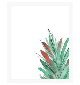 Pen + Pillar Red Leaf Art Print
