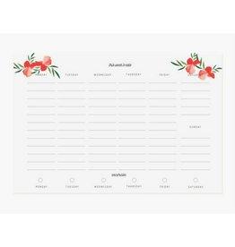 Pen + Pillar Red Poppy Meal Planner