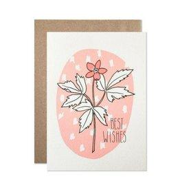 Hartland Brooklyn Best Wishes Flower Card
