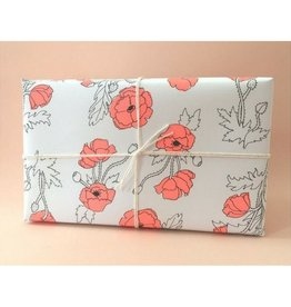 Hartland Brooklyn Neon Poppy Wrapping Sheets- 3 Pack