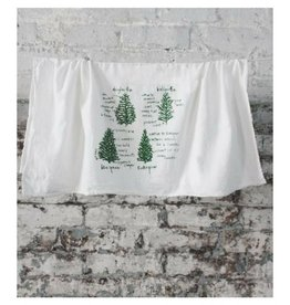 Girls Can Tell Conifers Towel