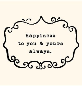SugarBoo Designs Happiness To You Notecard