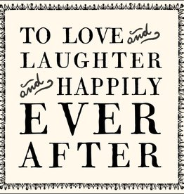 SugarBoo Designs To Love And Laughter Notecard