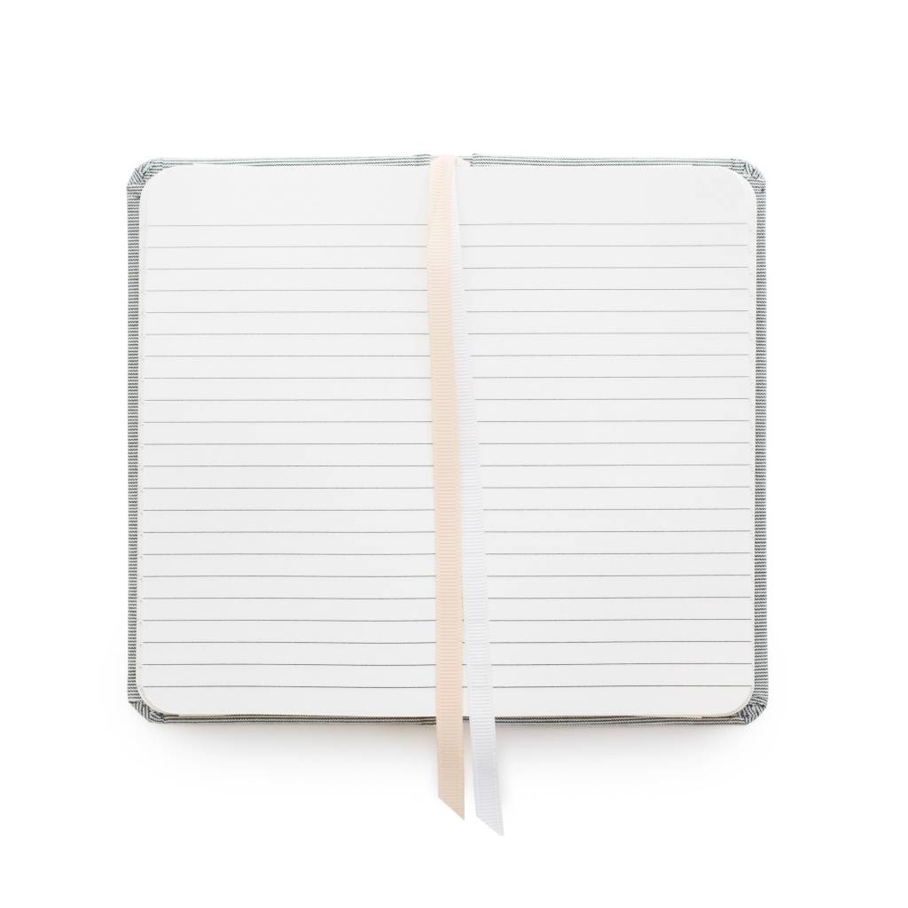 Sugar Paper Petite Fabric Journal, Blue Pencil Stripe