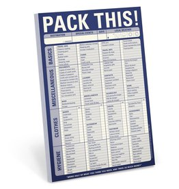 Knock Knock Pad:  Pack This!
