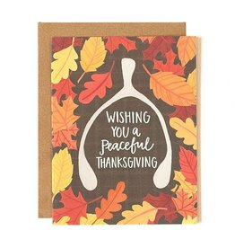 1Canoe2 Wishbone Thanksgiving Card