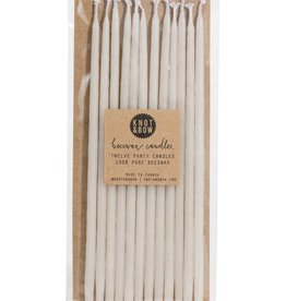 Knot and Bow Birthday Candles: Tall Ivory