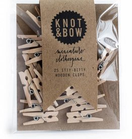 Knot and Bow Mini Clothes Pins
