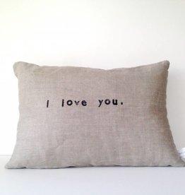 Casa & Co. I Love You Pillow, Charcoal