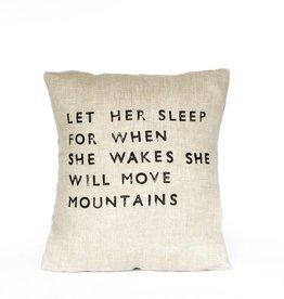 Casa & Co. Let Her Sleep Pillow, Sand