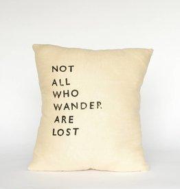 Casa & Co. Not All Who Wander Pillow, Sand