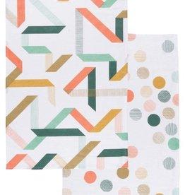 Now Designs Calliope & Carousel Tea Towels, Set/2