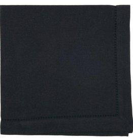 Now Designs Hemstitch Solid Napkin, Black