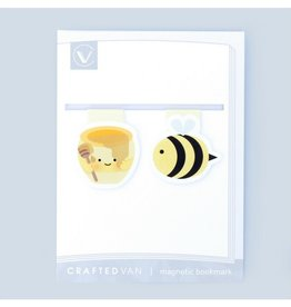 Crafted Van Bee & Honey Mini Magnetic Bookmarks