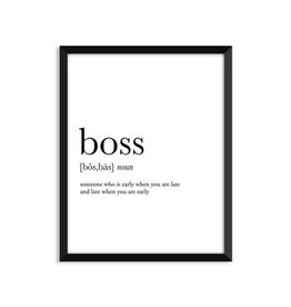 Footnotes Studio Art Print - Boss