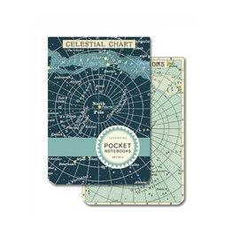 Cavallini Papers Celestial Pocket Notebooks, Set/2