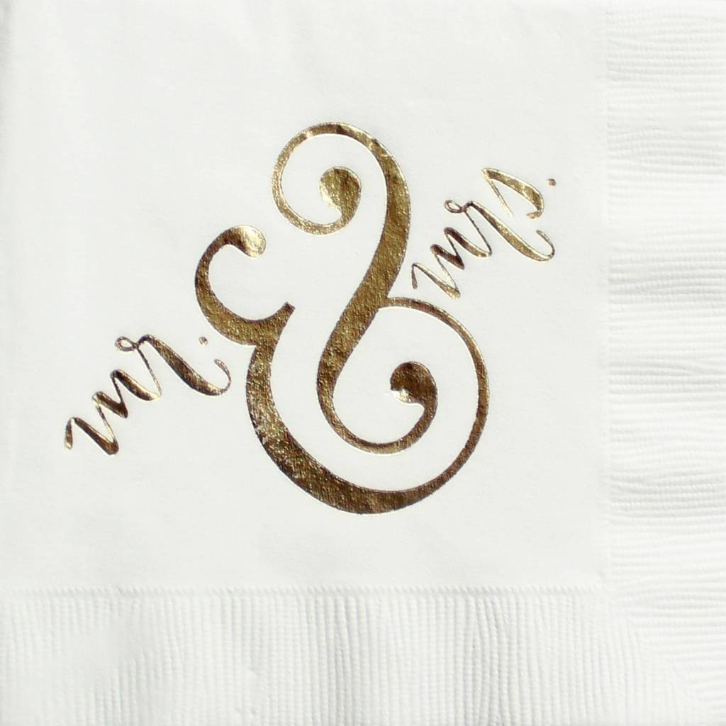 Ann Page Mr. and Mrs. Cocktail Napkins