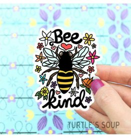 Turtle's soup Bee Kind Sticker