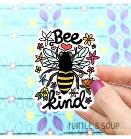 Turtle's soup Bee Kind Sticker