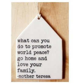 MB Art Studios World Peace Tag