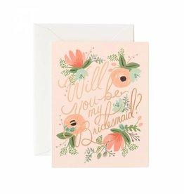 Rifle Paper Blushing Bridesmaid Card