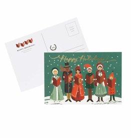 Rifle Paper Carolers Christmas Postcard, Pk/10