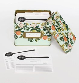 Rifle Paper Citrus Floral Recipe Tin