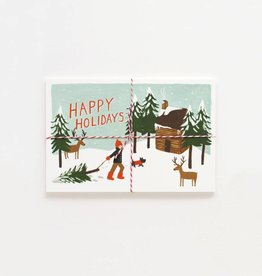 Rifle Paper Happy Holiday Postcards, Pk/10